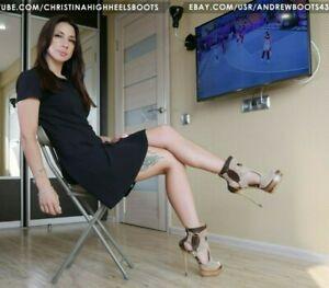 GIANMARCO LORENZI EU37 US7 peep toe platform high heels suede ankle boots