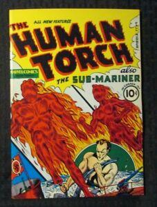 1970's FLASHBACK #21 FVF 7.0 Reprint Human Torch #1 Sub-Mariner