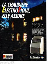 PUBLICITE ADVERTISING 1016  1994 chauffage Bienérgie fioul chaudière De Dietrich