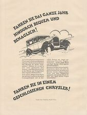 J1134 Automobili CHRYSLER Company - Pubblicità grande formato - 1927 Old advert