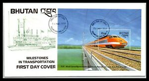 GP GOLDPATH: BHUTAN COVER 1988 FIRST DAY OF ISSUE _CV674_P21