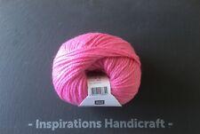RICO Merino Aran Knitting Crochet Yarn 016 Pink 1 Ball (50gm)