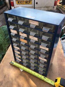 Vintage Raaco 36 Drawer Metal Compact Organiser / Cabinet / Workshop Storage