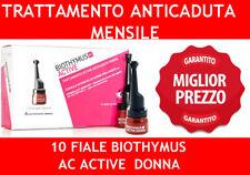 BIOTHYMUS 10 FIALE AC ACTIVE ANTICADUTA CAPELLI DONNA TRATTAMENTO MESE