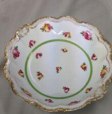 "Vintage Limoges Bowl Comte D'artois Porcelain Rose 10 1/4"""