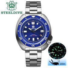 Steeldive SD1970 Blue Watch Sapphire,NH35 BGW9 Luminous, Steel, New Version