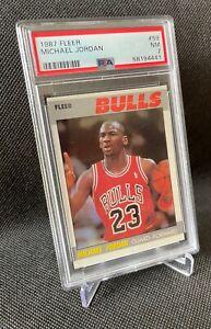 1987 FLEER #59 MICHAEL JORDAN PSA 7 BEAUTY! 2nd Year Card Chicago Bulls