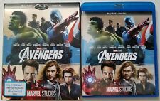 MARVEL THE AVENGERS BLU RAY + SLIPCOVER SLEEVE & UPPER DECK TRADING CARDS