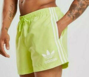 Adidas Originals California Swim Shorts Frozen Yellow Size XL New