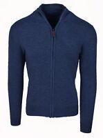 Cardigan maglione uomo Diamond invernale casual blu scuro golf pullover con zip