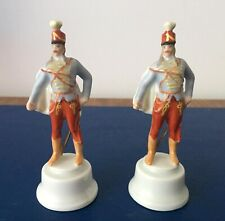 Pair Herend Hungary Porcelain Hussar Soldier Figure