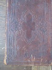 1867 The Holy Bible Leather bound  American Bible Society 767 pages Excellent co