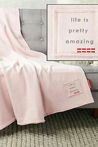 """Peace Love World 60"""" x 70"""" Oversized Vintage Cotton Terry Throw, Pale Lilac"""