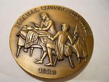 MÉDAILLE BRONZE PROTECTION CIVILE PREMIERS SECOURS 1828
