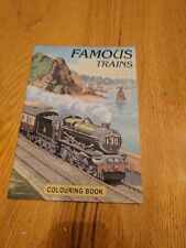 Vintage Famous Trains Coloring Book For Kids and Adults