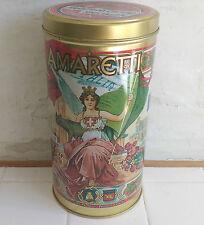 Italian Amaretti Biscotti Lazaronni large kitchen tin retro art nouveau style