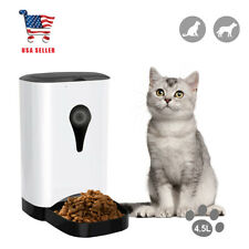 Pet Feeder Smart WiFi Automatic Pet Food Feeder 4.5L Control Via Phone App alexa