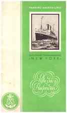 Hamburg America Linie Line Steamship Dampfer New York 1929 Passengher List
