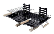Marsh Allan 30002 Steel Hibachi Charcoal Grill, Black