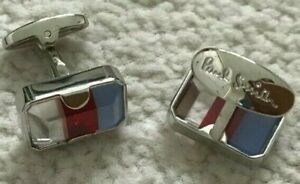 Paul Smith Cufflinks Glass Red white blue