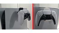 PS5 Controller Halterung für Dualsense an Playstation 5, Weiß / Schwarz