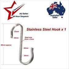 Stainless Steel S Shape Hanger Hook x 1.  camping kitchen pots pans lantern etc: