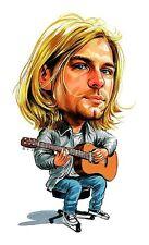 Nirvana - Kurt Cobain Caricature 90's Heavy Metal Sticker or Magnet
