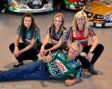 JOHN FORCE & DAUGHTERS NHRA FUNNY CAR DRAG RACING 8X10 GLOSSY PHOTO ~ MUST HAVE!