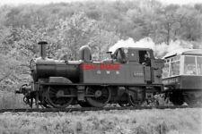 PHOTO  GWR LOCO NO 1420 AND DEVON BELLE OBSERVATION CAR