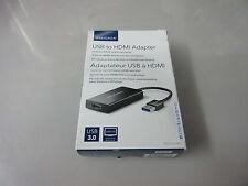 Insignia USB to HDMI/DVI Adapter NS-PU37H-BK-C