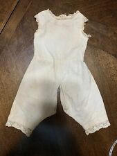 Antique Cotton One Piece Undergarment For French or German Bisque Doll