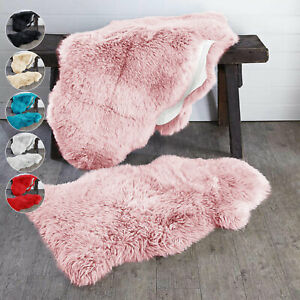 Heavy Duty Extra Thick Natural Sheepskin Rug Living Room Bedroom Carpet UK Size
