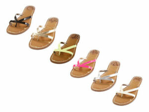 Sam & Libby Women's Sz 6 Kori Double Strap Slip On Flip Flops Sandals Your Choic