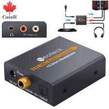 Digital to Analog Audio Optical Cable Coax Coaxial Toslink Converter RCA R/L CA