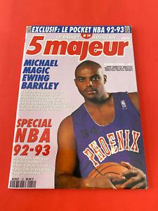 5 Majeur Le Basketball Magazine November 1992 N19 Issue Barkley Cover Bird Card