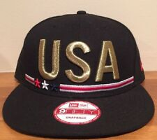 747db4c63ed USA OLYMPICS NEW ERA 9FIFTY METAL COUNT ADJUSTABLE OSFM BLACK SNAPBACK HAT  NWT
