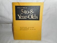 Vtg Sex Education Books for Children Kids A Doctor Talks to 5 to 12 year olds