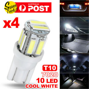 4PCS T10 LED Car Lights 7020 SMD WHITE W5W WEDGE TAIL SIDE TURN PARKER BULB