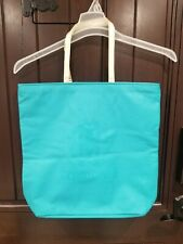 Roberto Cavalli Parfum Women Turquoise Color Faux Leather Large Tote Bag NWOT