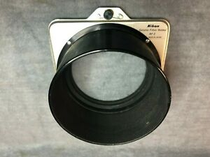 Vintage Nikon AF-2 Gelatin Filter Holder w/Hood & 72mm Thread F/Long Lens