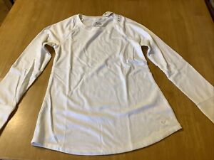 Justice Girls Long Sleeve Shirt, Size 12, White, New with tags