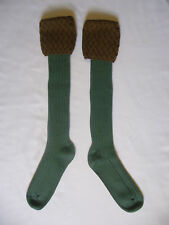 RANNOCH LONG WOOL  SOCK OLIVE/CONTRAST  TOP SIZE MED SHOOTING/ WALKING RIDING