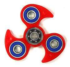 Red Fire Shape - Tri FIDGET Spinner Ceramic Ball Hand SPINNER Desk Toy