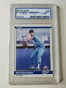 1984 FLEER UPDATE #U-103 BRET SABERHAGEN RC GRADED 8.5