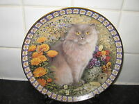 CATS AMONG THE FLOWERS  PLATE  - REGINALD IN MARIGOLDS   -DANBURY MINT