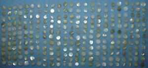 276 Vintage Creamy White Mother of Pearl BUTTONS All with Self Shank Backs SMALL