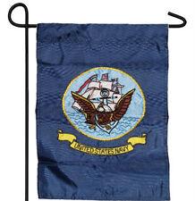 "EMBROIDERED U.S. NAVY SHIP EMBLEM GARDEN BANNER/FLAG 12""X18"" SLEEVED POLY"