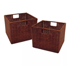 Winsome Wired Basket, Small - Antique Walnut - Set of 2
