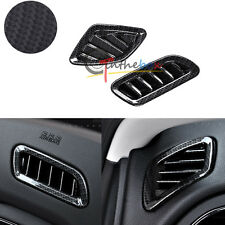 2PCS Carbon Fiber Dashboard Air Vent Frame Outlet Covers Trim For Jeep Renegade