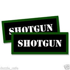 "SHOTGUN Ammo Can 2x  Labels Ammunition Case 3""x1.15"" stickers decals 2 pack"